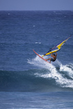 Windsurfing on the Ocean at Sunset, Maui, Hawaii, USA Photographic Print by Gerry Reynolds