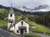 Church of Saint Zyprian and Justina, St Zyprian, Dolomites, Italy Photographic Print by Martin Zwick