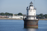 Butler Flats Light, Spark Plug Lighthouse at New Bedford Harbor, Massachusetts, USA Photographic Print by Cindy Miller Hopkins
