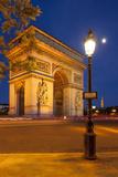Twilight at Arch De Triomphe, Paris, France Photographic Print by Brian Jannsen