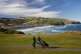 Golfers, Chisholm Park Golf Course, Dunedin, South Island, New Zealand Photographic Print by David Wall