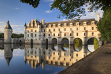 Evening Sunlight, Chateau Chenonceau, Castle, River Cher, Indre-Et-Loire, France Photographic Print by Brian Jannsen