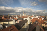 Roof Top View of Old Town Regensburg, Germany Photographic Print by Dave Bartruff