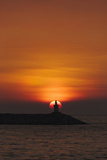 Sunset View of Lighthouse in Manila Bay, Manila, Philippines Photographic Print by Keren Su