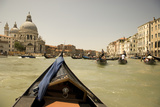 Tourist Ride in Gondolas on the Grand Canal in Venice, Italy Photographic Print by David Noyes
