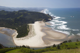 View of Beach and Salmon River, Cascade Head, Oregon, USA Photographic Print by Jamie & Judy Wild