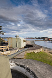 Fort Rodd Hill, Belmont Battery, Victoria, Vancouver Island, British Columbia, Canada Photographic Print by Walter Bibikow
