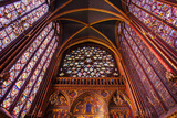 Stained Glass Windows, Church, Upper Chapel, Sainte Chapelle Church, Paris, France Fotografisk tryk af Brian Jannsen