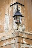 Sighisoara (Schaessburg), Transylvania, Old Building Lantern, Romania Stampa fotografica di Martin Zwick