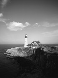 View of Lighthouse, Cape Elizabeth, Portland, Maine, USA Photographic Print by Walter Bibikow