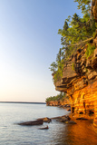 Sandstone Cliffs, Sea Caves, Devils Island, Apostle Islands Lakeshore, Wisconsin, USA Photographic Print by Chuck Haney