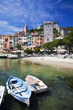 Small Boats at Anchor in Harbor, Portovenere, La Spezia, Italy Photographic Print by Terry Eggers