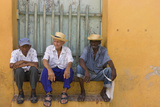 Men on the Street, Trinidad, Cuba Photographic Print by Keren Su