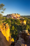 Sunrise View over Hilltop Town of Roussillon in the Luberon, Provence, France Photographic Print by Brian Jannsen