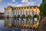 Evening Sunlight, Chateau Chenonceau, Castle, River Cher, Indre-Et-Loire, France Fotodruck von Brian Jannsen