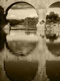 View of Pont Du Gard Bridge, Gardon River, Languedoc, France Photographic Print by David Barnes