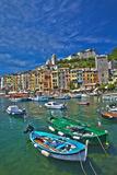 Small Boats at Anchor in Harbor, Portovenere, La Spezia, Italy Photographic Print by Terry Eggers