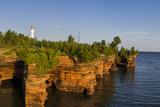 Sandstone Cliffs, Sea Caves, Devils Island, Apostle Islands Lakeshore, Wisconsin, USA Stampa fotografica di Chuck Haney