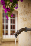 Detail of Memorial Fountain in Public Square, Greoux-Les-Bains, Provence, France Photographic Print by Brian Jannsen