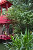 Asian Art and Artifacts, Garden Bell Tower, the Prasart Museum, Bangkok, Thailand Fotografie-Druck von Cindy Miller Hopkins