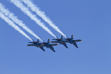 The Blue Angels, Airshow, SEAFAIR, F/A-18 Hornet Aircraft, Seattle, Washington, USA Photographic Print by Jamie & Judy Wild