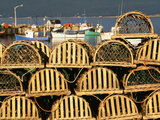 Stack of Lobster Traps at Neil's Harbor, Cape Breton, Nova Scotia, Canada Photographic Print by Walter Bibikow