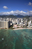 Sheraton Waikiki and Royal Hawaiian Hotels, Waikiki, Oahu, Hawaii, USA Photographic Print by Douglas Peebles
