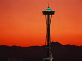 Space Needle at Sunset, Seattle, Washington, USA Photographic Print by David Barnes