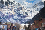 Main Street and Ajax Peak, Telluride, Colorado, USA Photographic Print by Walter Bibikow