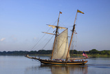 Tall Wooden Ship Sails in the Savannah River, Savannah, Georgia, USA Photographic Print by Joanne Wells