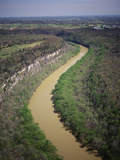 Aerial View of Kentucky River in the Palisades of Bluegrass Region of Kentucky, USA Photographic Print by Adam Jones