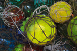 Colorful Fishing Buoys Draped in Netting, Apalachicola, Florida, USA Photographic Print by Joanne Wells