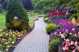 Butchart Gardens in Full Bloom, Victoria, British Columbia, Canada Photographic Print by Terry Eggers