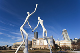 Center for Performing Arts, Sculpture by Jonathan Borofsky, Denver, Colorado, USA Photographic Print by Walter Bibikow