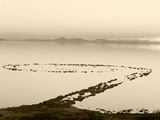 Spiral Jetty Above Great Salt Lake, Utah, USA Photographic Print by Scott T. Smith