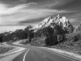 Teton Park Road and Teton Range, Grand Teton National Park, Wyoming, USA Photographic Print by Adam Jones