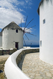 Iconic Windmills, Chora, Mykonos, Greece Photographic Print by David Noyes