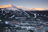 Elevated Town View from Mount Baldy, Breckenridge, Colorado, USA Fotografiskt tryck av Walter Bibikow