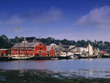 Atlantic Fisheries Museum and Lunenburg Harbor, Lunenburg, Nova Scotia, Canada Photographic Print by Walter Bibikow