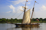 Tall Wooden Ship Sail in the Savannah River, Savannah, Georgia, USA Photographic Print by Joanne Wells