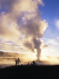 Old Faithful Geyser, Yellowstone National Park, Wyoming, USA Photographic Print by Adam Jones