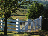 Pleasant Hill, White Shaker Fence, Kentucky, USA Photographic Print by Adam Jones