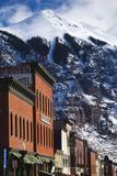 Walter Bibikow - Main Street Buildings, Telluride, Colorado, USA Fotografická reprodukce