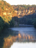 Palisades Mirrored on Kentucky River Against Sunset, Kentucky, USA Photographic Print by Adam Jones