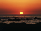View of Beach at Sunset, Pacific Grove, Monterey Peninsula, California, USA Photographic Print by Stuart Westmorland