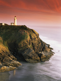 North Head Lighthouse on Cliff, Fort Canby State Park, Washington, USA Photographic Print by Stuart Westmorland