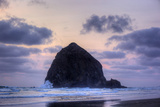 Haystack Rock at Sunset, Cannon Beach, Oregon, USA Photographic Print by Jamie & Judy Wild