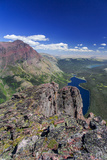 Two Medicine Lake, Diving Board, Sinopah Mountain, Glacier National Park, Montana Photographic Print by Chuck Haney
