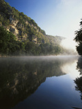 Morning Mist Along the Kentucky River Palisades, Kentucky, USA Photographic Print by Adam Jones