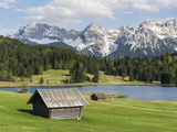 Karwendel Mountain Range, Mittenwald, Lake Wagenbruch, Bavaria Photographic Print by Martin Zwick